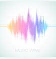 equalizer sound wave vector image vector image