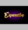 Expensive 3d gold golden text metal logo icon