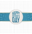Festive Graphic Element for Fathers Day vector image vector image