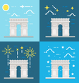 Flat design of Arc de Triomphe France vector image vector image