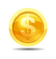 game coin with currency dollar game interface vector image vector image