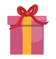 Gift box isolated flat icon design vector image vector image