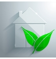 Glass Icon of EcoHouse vector image vector image