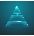 glass pyramid icon Eps10 vector image vector image