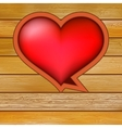 Glow heart on wood background EPS8 vector image