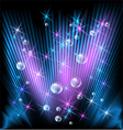 Glowing rays stars and bubbles vector image vector image