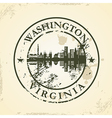 Grunge rubber stamp with Washington Virginia vector image vector image
