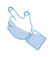 hand pointing up vector image vector image