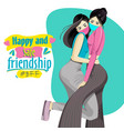 happy friendship day with safety mask vector image vector image