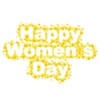 Happy womens day Yellow mimosa flower Acacia vector image vector image
