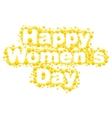 Happy womens day Yellow mimosa flower Acacia vector image vector image
