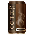 ice coffee in aluminum can vector image vector image