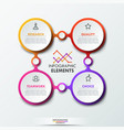 infographic design template with 4 connected vector image vector image