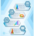 infographic presentation banners vector image vector image