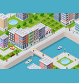 isometric of a city vector image