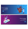 isometric virtual medical research vector image vector image