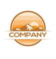 landscape emblem logo vector image vector image