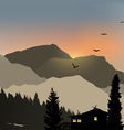 Lonely House Mountain View vector image