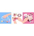 manicure isometric design concept vector image