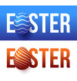 modern trendy colorful typography happy easter on vector image vector image
