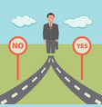 no yes solution concept business vector image vector image