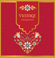 ornate vintage background in gold and red vector image vector image