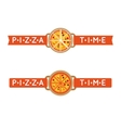 pizza time sign or logo vector image vector image