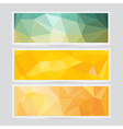 Polygon abstract banner pattern background in flat vector image vector image