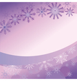 purple background with delicate snowflakes vector image
