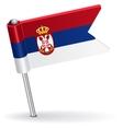 Serbian pin icon flag vector image vector image