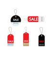 set of price discount sale tag label with barcode vector image vector image
