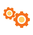 Settings symbol icon on white vector image