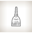 Silhouette broom on a light background vector image