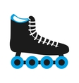 skate shoe wheel icon vector image vector image