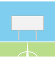 Soccer field with blank scoreboard vector image