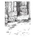 stone gate vector image