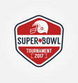 super bowl tournament logo sport design vector image
