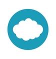 travel cloud weather blue circle concept vector image