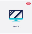 two color smart tv icon from electronic devices vector image vector image