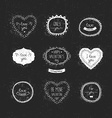 Vintage love labels frame and decorative elements vector image vector image