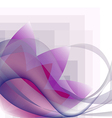waves transparent and pink flower pattern vector image