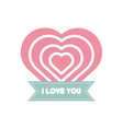 i love you greeting heart style vector image