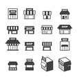 shop building icon set vector image