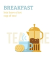 Tea cup and french press vector image