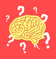 brainstorm with outline brain icon vector image