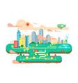 green city flat vector image