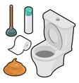 Toilet icon set Isometric White toilet Green vector image
