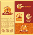 rocket pizza logo vector image