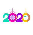 2020 text design for you website poster banner vector image vector image