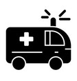 ambulance solid icon medical car vector image